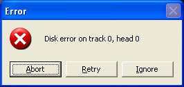 Disk error on track. Free downloads.
